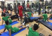 برگزاری نخستین تمرین تیم ملی فوتبال ساحلی در اردوی عمان