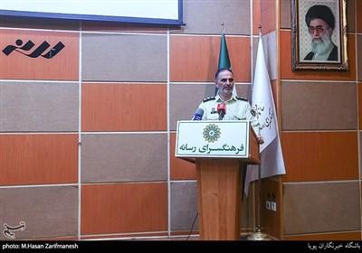سخنرانی سرهنگ تورج کاظمی رئیس پلیس فتا تهران بزرگ