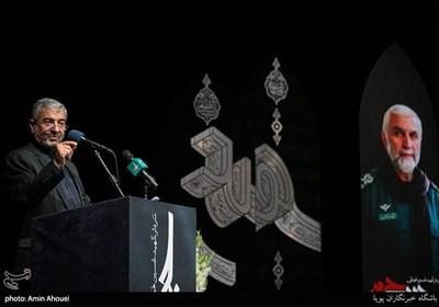 سخنرانی سردار محمدعلی جعفری در مراسم چهارمین سالگرد شهید حاج حسین همدانی