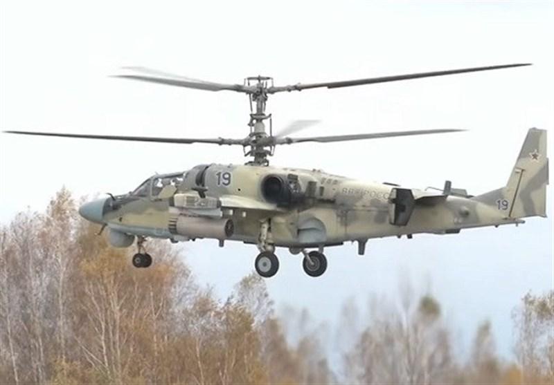 شلیک رزمی بالگردهای تهاجمی «تمساح» روسیه + فیلم