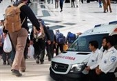 استقرار 10 دستگاه آمبولانس اورژانس لرستان در مرز مهران و چذابه