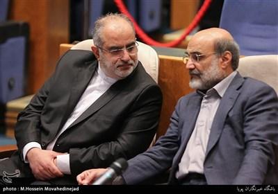 علی عسگری رئیس سازمان صدا و سیما و حسام الدبن آشنا مشاور رسانه ای رئیس جمهور