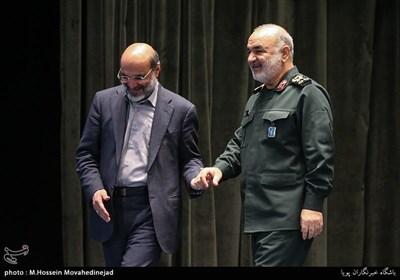 سردار سرلشکر حسین سلامی و علی عسگری رئیس سازمان صدا و سیما