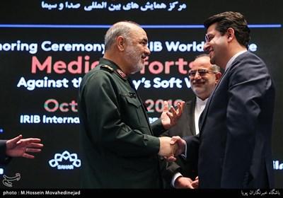سردار سرلشکر حسین سلامی و عباس موسوی سخنگوی وزارت خارجه ایران