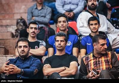 حضور هادی ساعی در سالن برگزاری مسابقات
