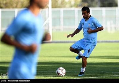 تمرین تیم ملی فوتبال پیش از دیدار با کامبوج