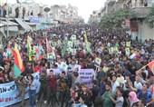 راهپیمایی کردهای سوریه علیه ترکیه