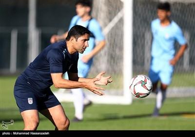 وحید هاشمیان در تمرین تیم ملی فوتبال پیش از دیدار با کامبوج