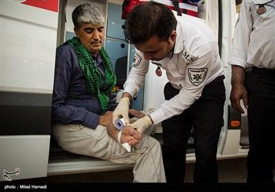 خدمات درمانی به زائرین اربعین