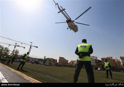 رزمایش مشترک هلال احمر و نیروی انتظامی
