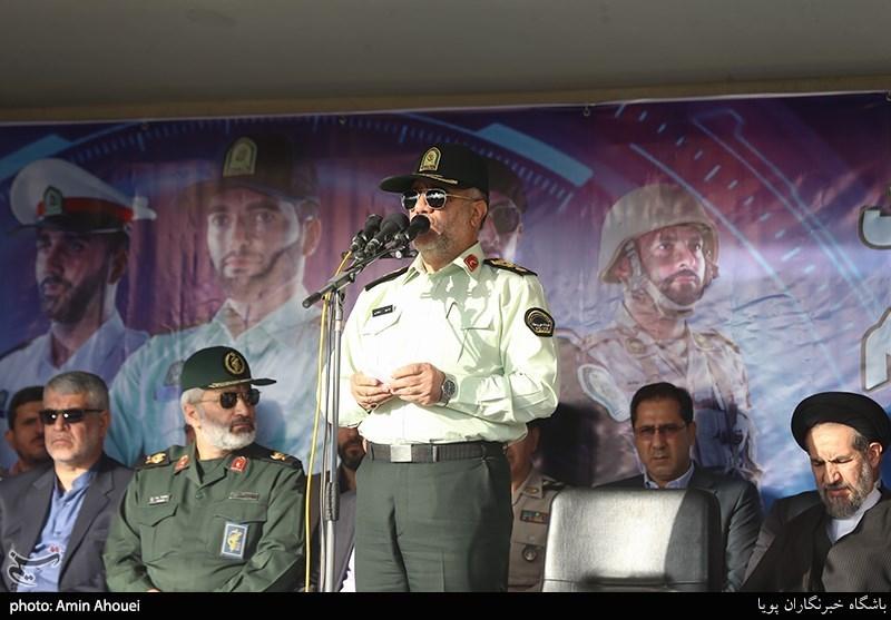 سخنرانی سردار حسین رحیمی در صبحگاه عمومی نیروی انتظامی