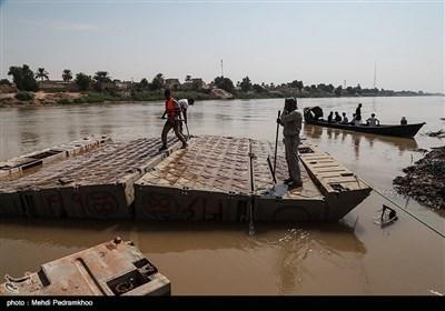 چندین بار این پل مورد ترمیم قرار گرفت اما در نهایت با غرق شدن قطعاتی از این پل راه ارتباطی مردم دهستان عنافچه به شهر ملاثانی این شهرستان قطع شد و مردم این منطقه ۶ ماه است که برای تردد از قایق استفاده می کنند