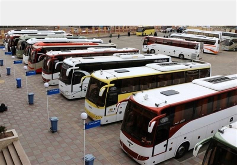 اخبار اربعین 98| 250 دستگاه اتوبوس از استان همدان روانه مرز مهران شد