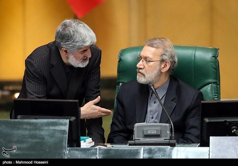 علی لاریجانی، رئیس مجلس شورای اسلامی و علی مطهری