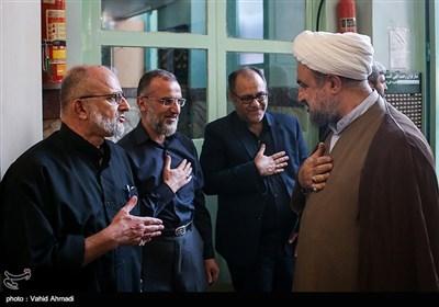 حجت الاسلام حمید رسایی در مراسم ختم پدر سردار سعید قاسمی