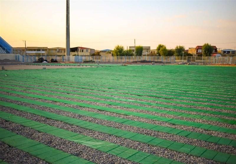 آمادهسازی ورزشگاه اختصاصی گلگهر برای میزبانی دیدارهای لیگ برتر + عکس