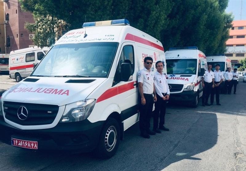 کاروان اورژانس 115 بوشهر به مرز شلمچه خوزستان اعزام شد