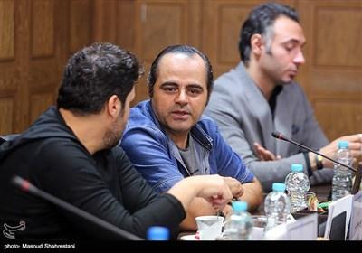 رضا مولایی در نشست خبری عوامل سریال ترور خاموش