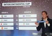 همگروهی ساحلیبازان ایران با روسیه، مکزیک و مصر در جام بین قارهای