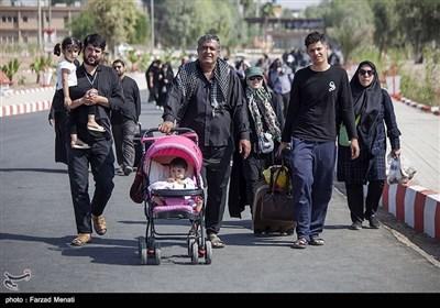 خروج زایرین اربعین حسینی از مرز خسروی