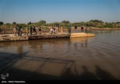 افتتاح پل شناور دهستان عنافچه به ملاثانی توسط ارتش