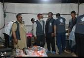 اخبار اربعین 98| ارسال محموله مواد غذایی و میوه به موکب شهید وحدت ملی + تصاویر