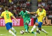 تیم ملی فوتبال برزیل در دیداری دوستانه مقابل سنگال متوقف شد