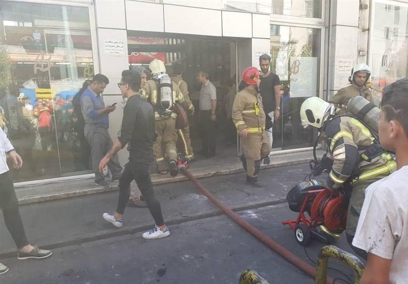 تهران| انفجار شدید در یک مجتمع تجاری + تصاویر