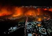 آمریکا| آتشسوزی گسترده در جنوب کالیفرنیا + تصاویر