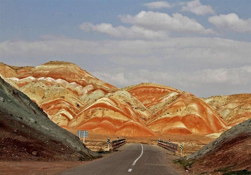 Rainbow Mountains in Northwest of Iran