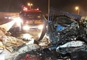آتشسوزی مرگبار دو دستگاه نیسان همراه با 4 زخمی + تصاویر