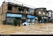 سیلاب به راهها و ابنیه فنی 10 نقطه گیلان خسارتهای زیادی وارد کرد