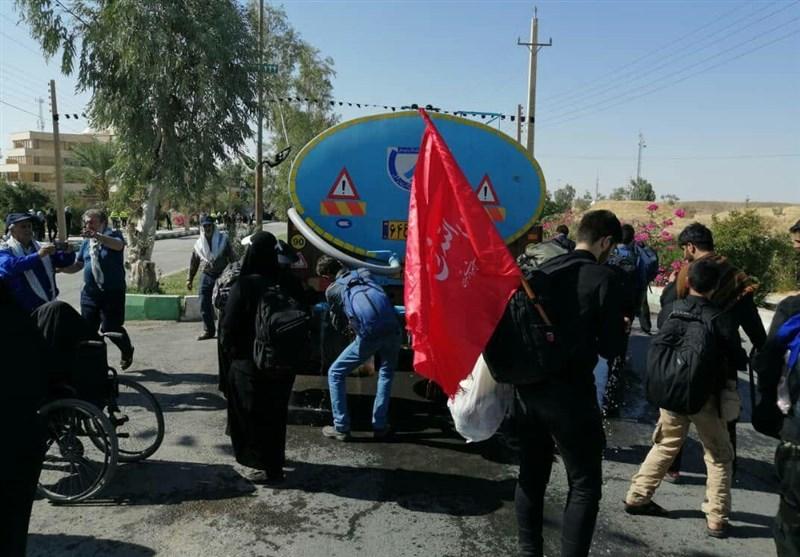 اخبار اربعین 98| آب آشامیدنی زائران در مرز خسروی و منذریه عراق تأمین شد + تصاویر