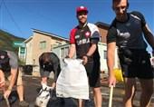 کمک راگبیبازان کانادا به آسیبدیدگان طوفان هاگیبیس در کشور ژاپن + عکس