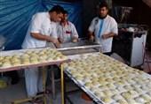 موکب تسنیم لرستان  پخت نان در موکب یالثارات الحسین (ع) دورود