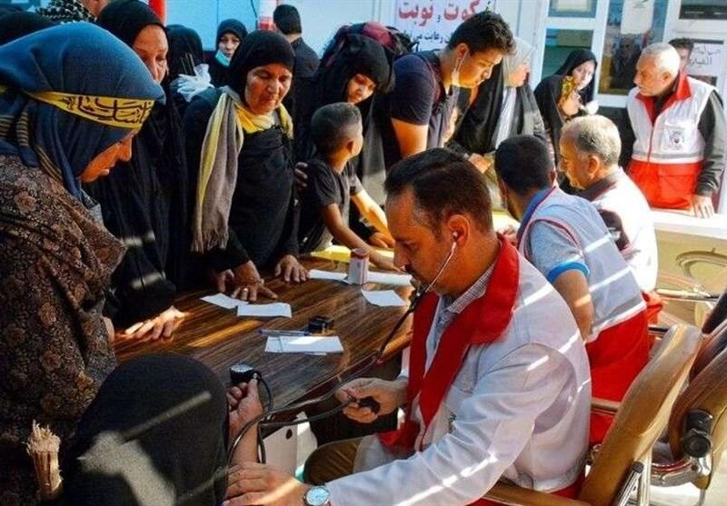 اخبار اربعین 98  بالغ بر 11 هزار زائر از خدمات هلال احمر خوزستان بهرهمند شدند