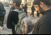 """خدمت به زوار """"امام حسین"""" با موکبهای دانشآموزی در مرز شلمچه و چذابه"""