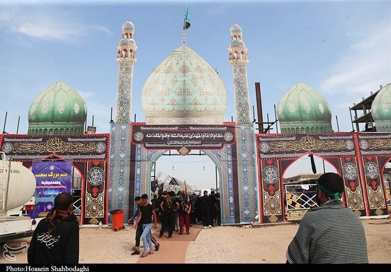 اخبار اربعین 98| خدمترسانی به زائران اربعین در موکب مسجد مقدس جمکران+تصاویر