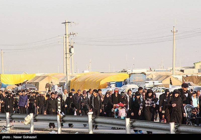اخبار اربعین 98| ایجاد سایتهای اسکان اضطراری در مجاورت پایانه برکت مهران / ورود روزانه 165 هزار زائر به کشور