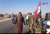 استقبال گرم مردمی از ورود ارتش سوریه به مناطق کُردنشین+تصویر و فیلم