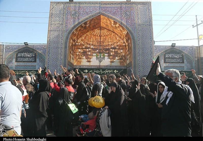اخبار اربعین 98  پذیرانی از زائران اربعین با انواع دمنوشها در موکب حضرت معصومه(س) + فیلم