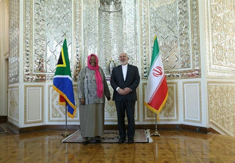 دیدار وزیر خارجه آفریقای جنوبی با ظریف