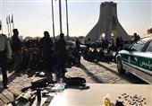 جمعآوری 100 معتاد متجاهر و کارتنخواب از اطراف میدان آزادی + تصاویر