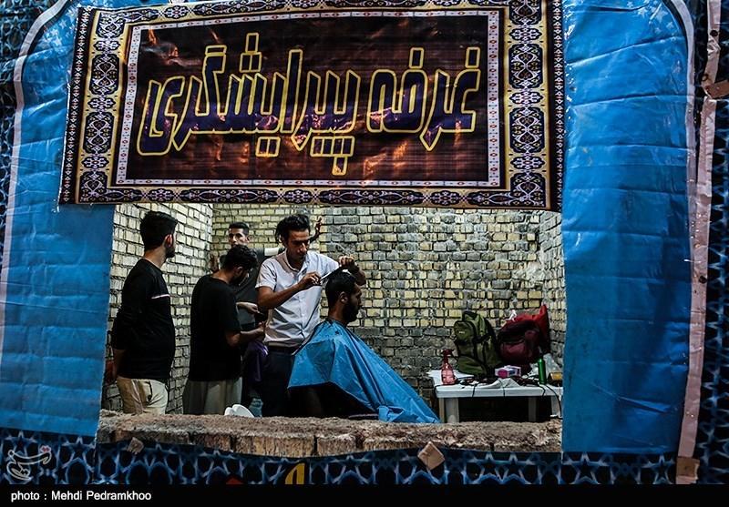 موکبهای خدمت رسانی به زائرین اربعین حسینی در پایانه مرزی چذابه