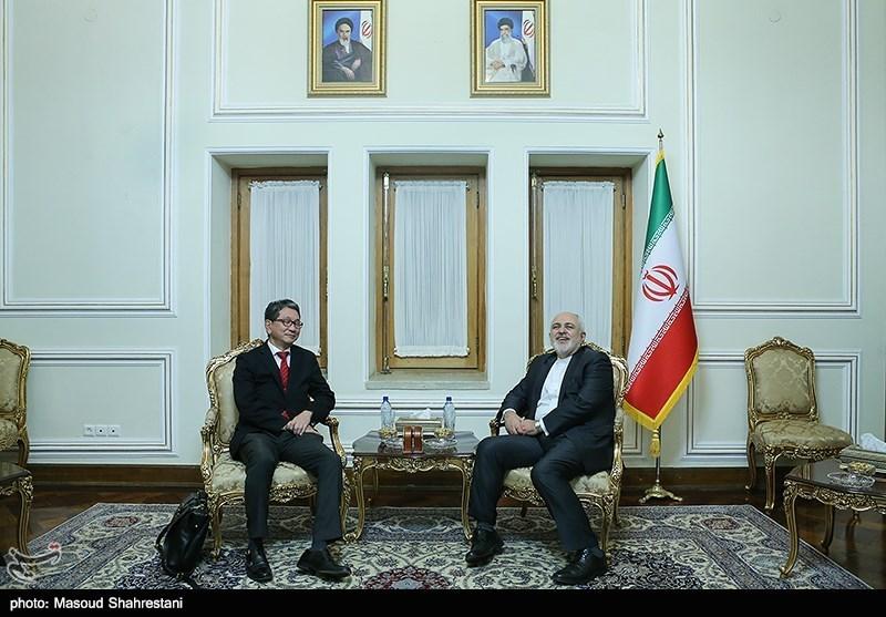 تاکئو موری معاون ارشد وزارت خارجه ژاپن در دیدار با محمد جواد ظریف وزیر امور خارجه ایران