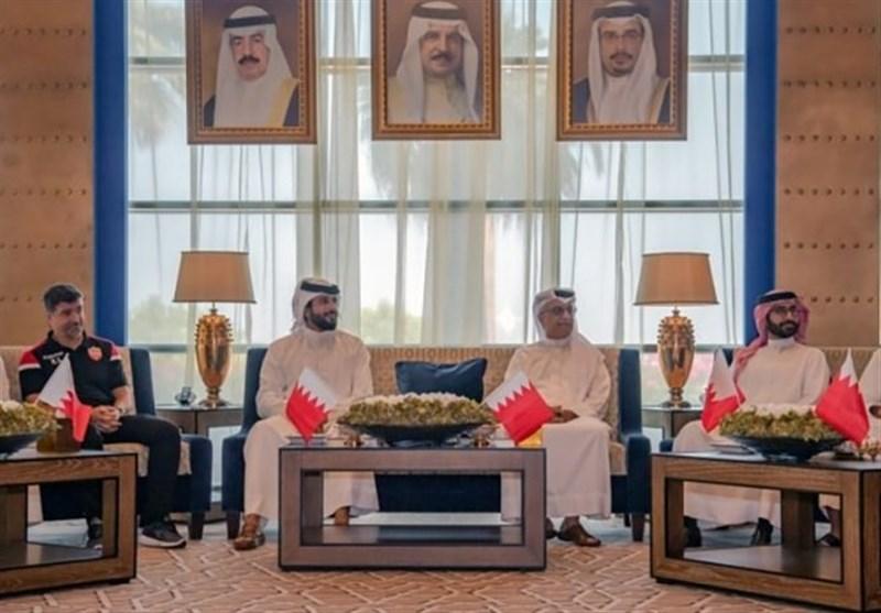 حضور عجیب رئیس AFC در ضیافت بحرینیها/ آرزوی موفقیت شیخ سلمان برای حریف ایران!