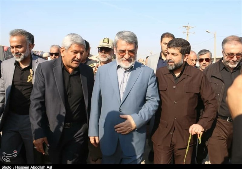 اخبار اربعین 98  بازدید وزیر کشور از مرزهای خوزستان + تصویر