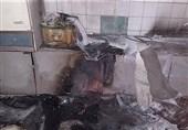 سوختن 3 مرد بر اثر انفجار و آتشسوزی در مغازه صافکاری + تصاویر