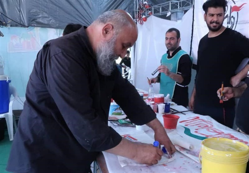 اربعین حسینی| راهپیمایی اربعین , هنرهای تجسمی , موکب تسنیم ,