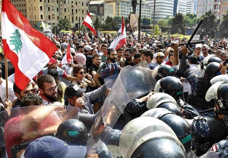 مظاهرات فی لبنان احتجاجاً على الأوضاع المعیشیة